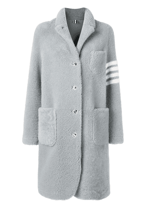 Thom Browne 4-Bar Dyed Sack Overcoat - Grey