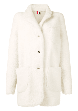 Thom Browne White Reversible Shearling Jacket
