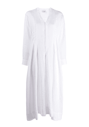 Aspesi long-sleeve flared dress - White