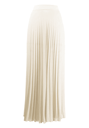 Filles A Papa long pleated skirt - Neutrals