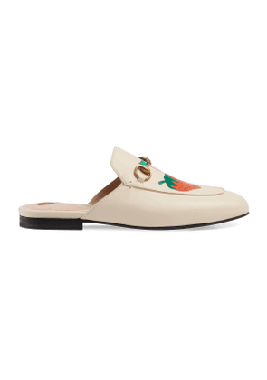 Princetown slipper with Gucci strawberry
