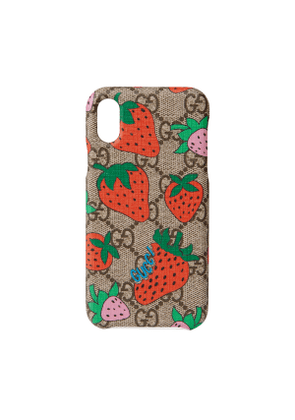 iPhone X/XS case with Gucci Strawberry