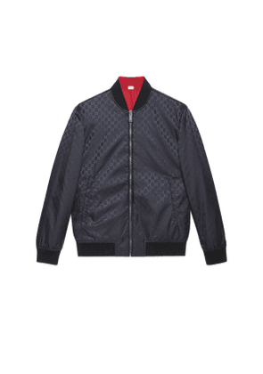 Reversible GG nylon bomber jacket