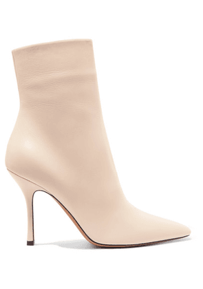 The Row - Gloria Leather Ankle Boots - White