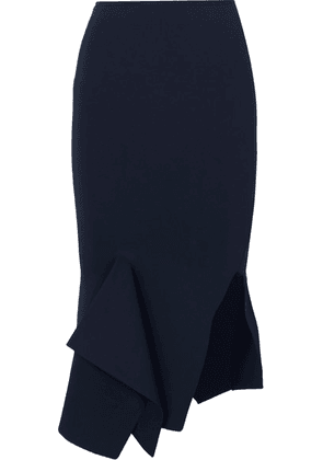 Roland Mouret - Lucca Stretch-knit Skirt - Navy