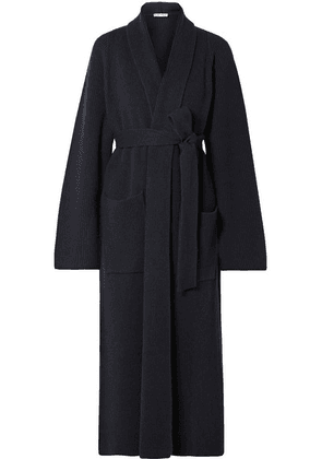 The Row - Tappi Ribbed Cashmere Cardigan - Navy