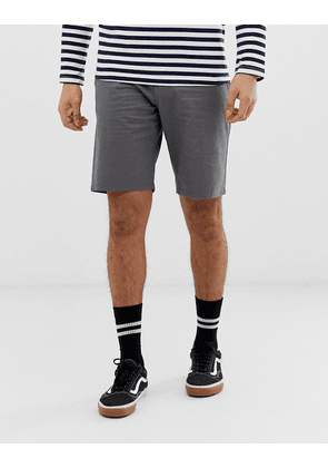 Only & Sons slim fit stretch chino shorts in grey