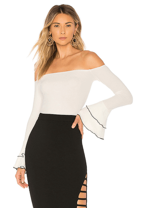 About Us Addie Bell Sleeve Off Shoulder Top in White. Size XL.