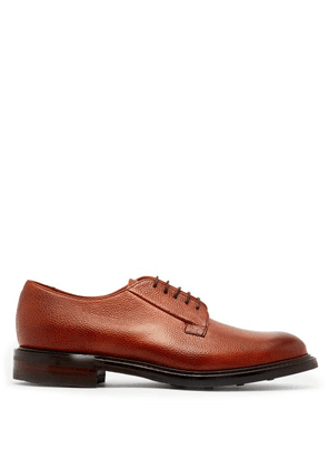 Cheaney - Deal Grained Leather Derby Shoes - Mens - Burgundy