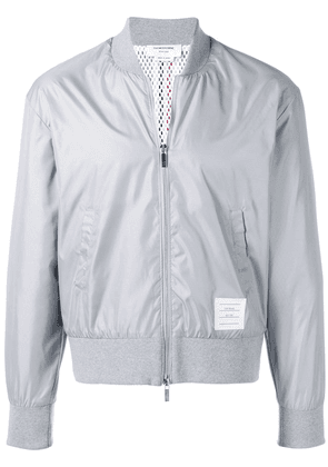 Thom Browne Center-back Stripe Ripstop Bomber - Grey