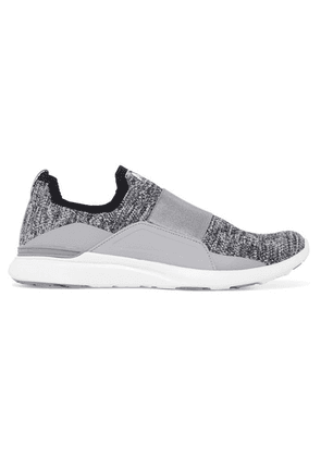 APL Athletic Propulsion Labs - Techloom Bliss Mesh And Satin Slip-on Sneakers - Gray