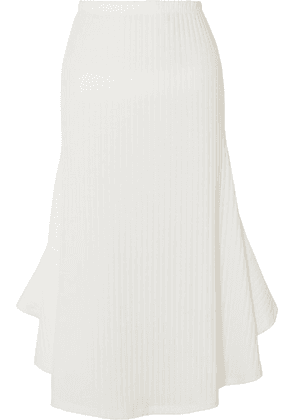 Maggie Marilyn - Can You Spot Me Ribbed-knit Midi Skirt - Ivory