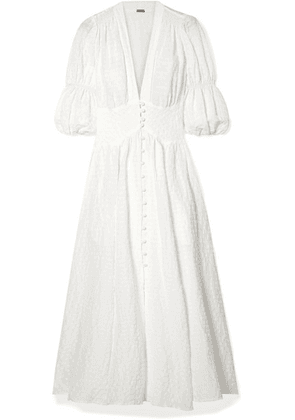Cult Gaia - Willow Seersucker Maxi Dress - White