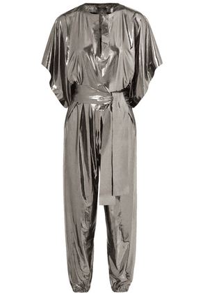 Norma Kamali - Rectangle Stretch-lamé Jumpsuit - Silver