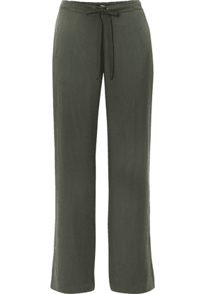 Theory - Winszlee Washed-silk Pants - Green