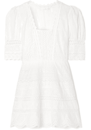 LoveShackFancy - Kristen Broderie Anglaise Cotton Mini Dress - Ivory