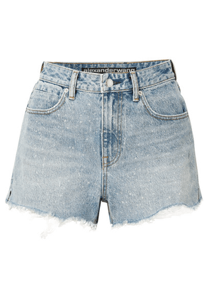 Alexander Wang - Bite Frayed Denim Shorts - Light denim