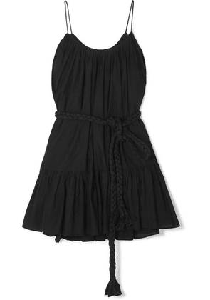 Rhode - Nala Ruffled Cotton-poplin Mini Dress - Black