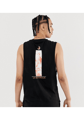 ASOS DESIGN Tall relaxed sleeveless t-shirt with historical back print