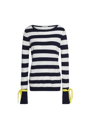 Autumn Cashmere Striped Cashmere Sweater Woman Navy Size S
