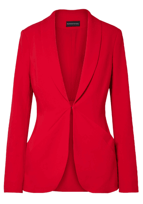 Brandon Maxwell Layered Stretch-crepe Blazer Woman Red Size 4