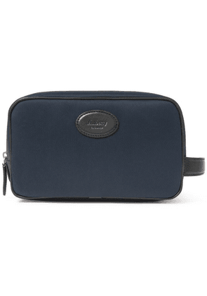Mulberry - Leather-trimmed Nylon Wash Bag - Navy