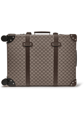 Gucci - + Globe-trotter Leather-trimmed Monogrammed Coated-canvas Carry-on Suitcase - Beige