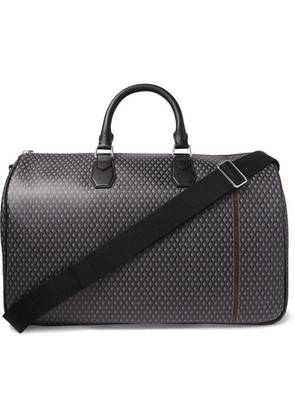 Dunhill - Leather-trimmed Printed Coated-canvas Holdall - Gray
