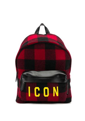 Dsquared2 plaid icon backpack - Black