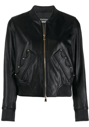 Boutique Moschino crown bomber jacket - Black