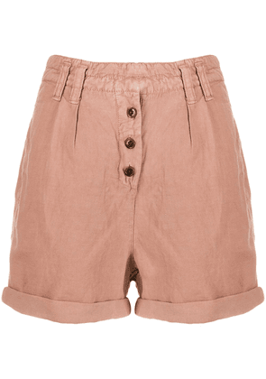 Cotélac high rise buttoned shorts - Neutrals