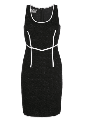 Boutique Moschino fitted knee-length dress - Black
