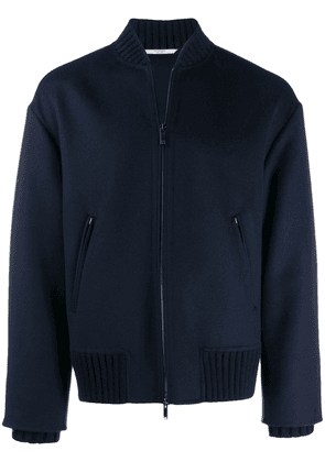 Valentino double cuffs bomber jacket - Blue