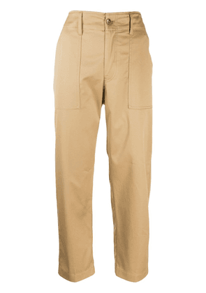 Closed high-waist trousers - Neutrals