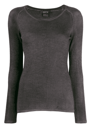 Avant Toi fitted knitted top - Grey