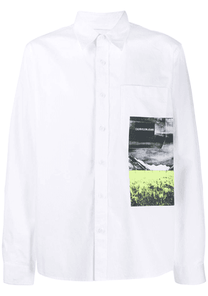 Calvin Klein Jeans photographic print pocket shirt - White