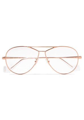 Loewe - Aviator-style Rose Gold-tone And Acetate Optical Glasses - one size