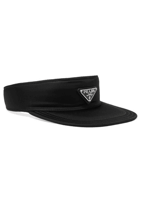 Prada - Appliquéd Nylon Visor - Black
