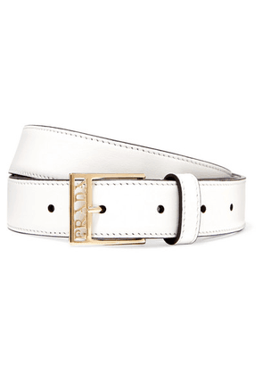 Prada - Leather Belt - White