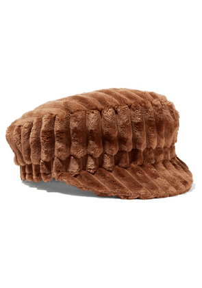 Isabel Marant - Evie Quilted Faux Shearling Cap - Brown