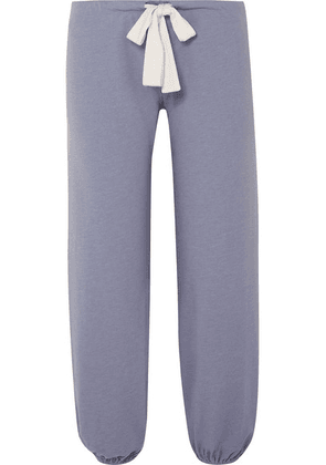 Eberjey - Heather Cotton-blend Jersey Pajama Pants - Blue