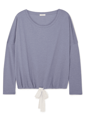 Eberjey - Heather Cotton-blend Jersey Pajama Top - Blue