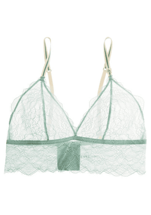 Love Stories - Stretch-lace Soft-cup Bra - Mint