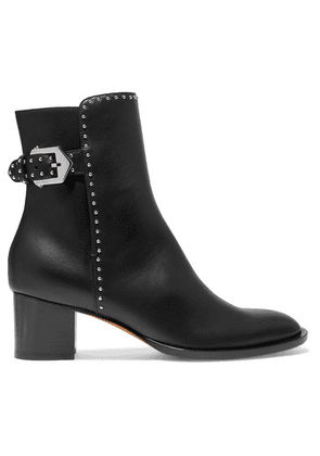 Givenchy - Elegant Studded Leather Ankle Boots - Black
