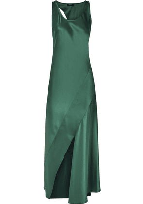 Theory - Cutout Satin Maxi Dress - Emerald
