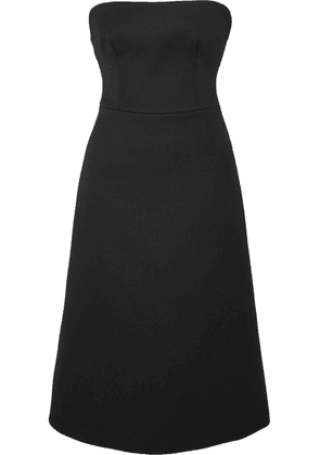 Prada - Strapless Wool-gabardine Midi Dress - Black