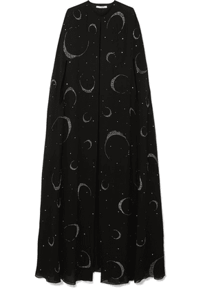 Givenchy - Embellished Silk-crepe Cape - Black