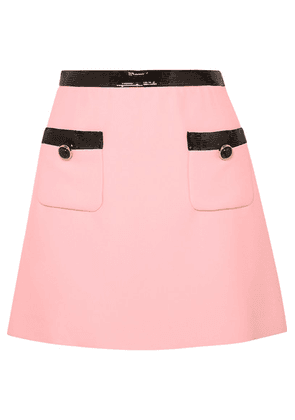 Miu Miu - Sequined Velvet-trimmed Cady Mini Skirt - Pink