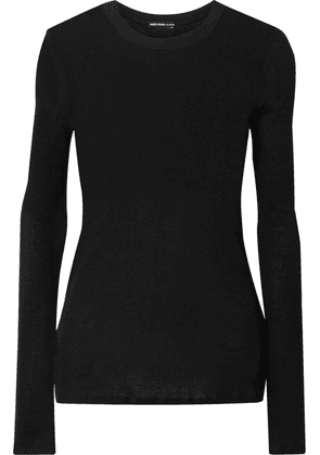 James Perse - Cotton And Cashmere-blend Sweater - Black
