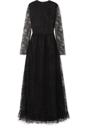 Philosophy di Lorenzo Serafini - Ruffled Lace Gown - Black